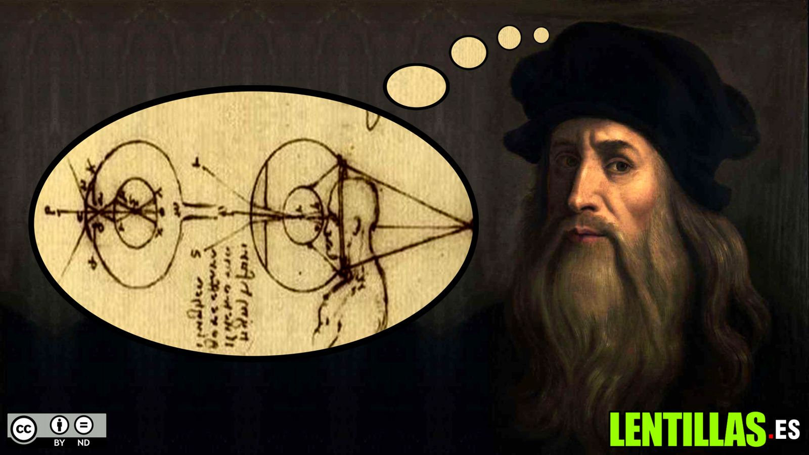 Leonardo da Vinci inventor de las lentillas
